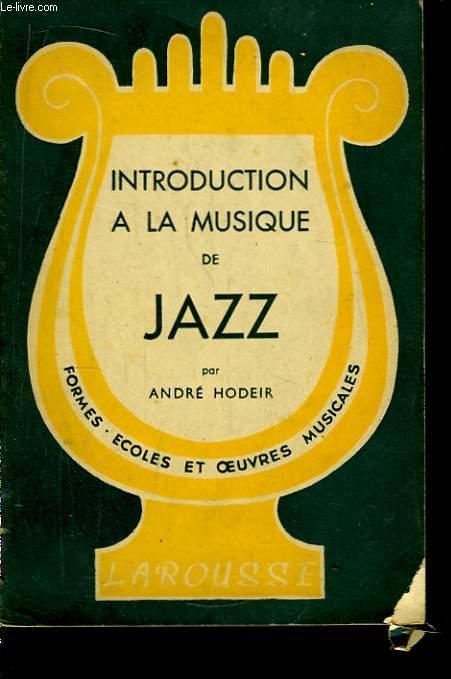 Introduction à la Musique de Jazz.