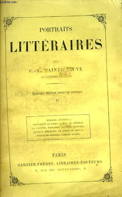 Portraits Littéraires. TOME II