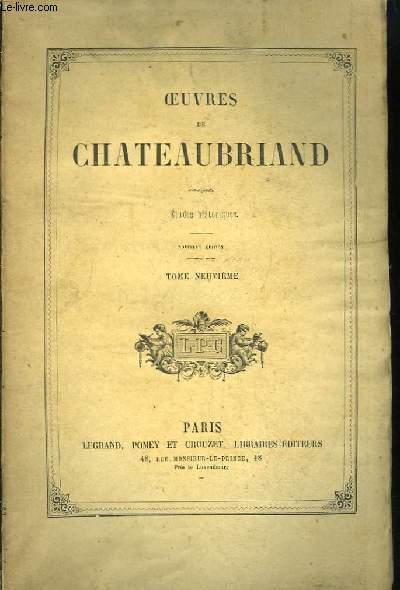 Oeuvres de Chateaubriand. TOME 9ème : Etudes Historiques.