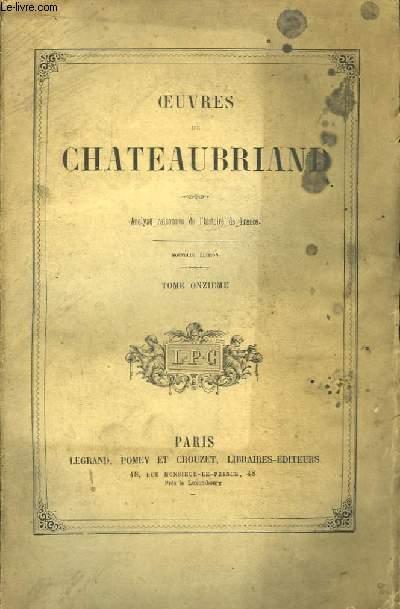 Oeuvres de Chateaubriand. TOME 11ème : Analyse raisonnée de l'Histoire de France.