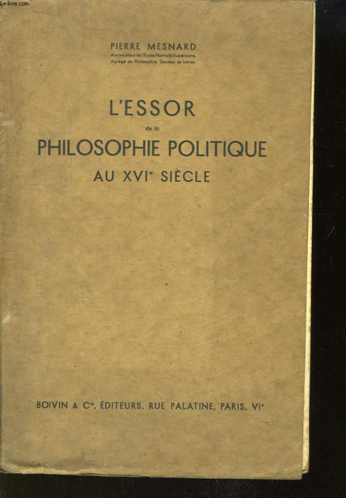 L'Essor de la Philosophie Politique au XVIe siècle