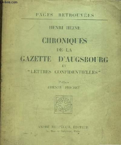 Chroniques de Gazette d'Augsbourg et