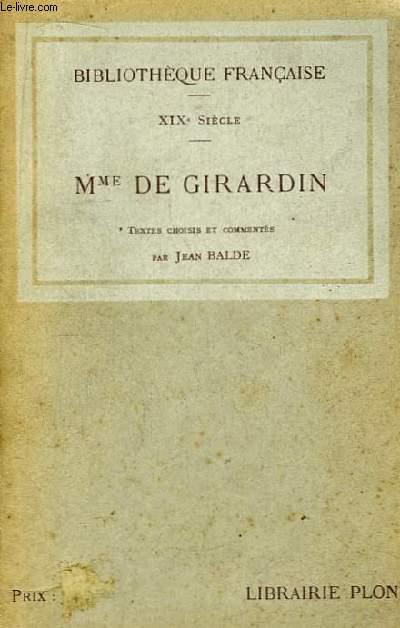 XIXème siècle. Mme De Girardin