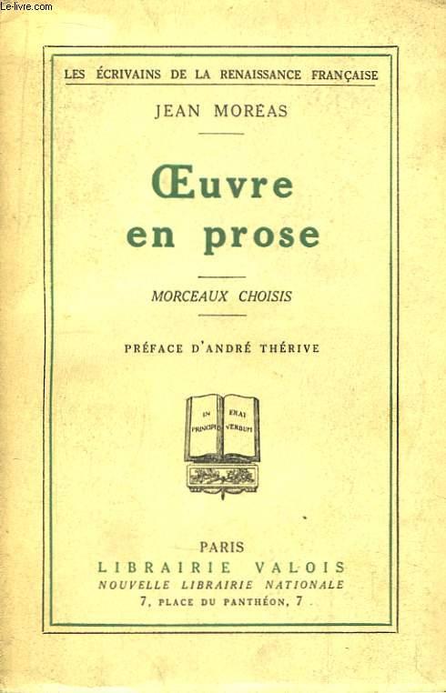 Oeuvre en prose