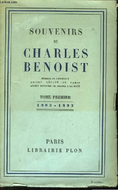Souvenirs de Charles Benoist. TOME 1er : 1883 - 1893