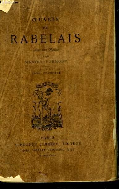 Oeuvres de Rabelais. TOME 4
