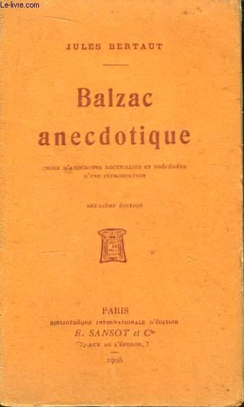 Balzac anecdotique