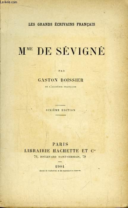 Mme de Sévigné.