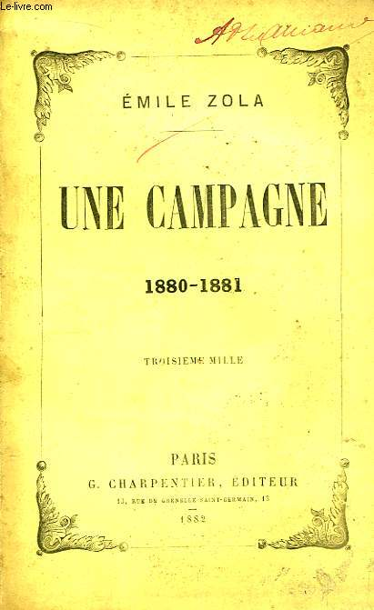 Une campagne 1880 - 1881