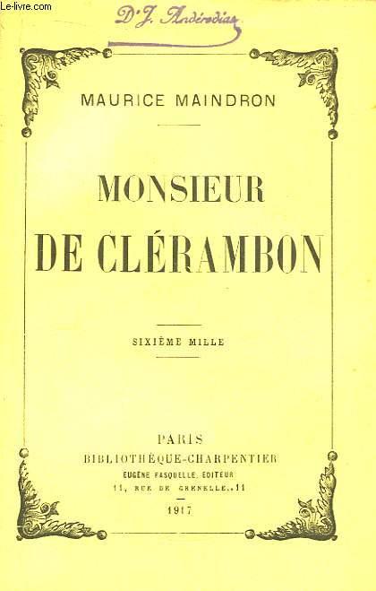 Monsieur de Clérambon.
