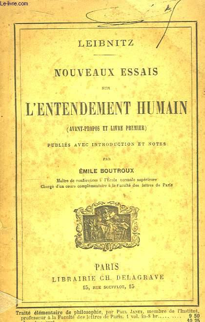 Nouveaux Essais sur l'Entendement Humain (avant-propos et Livre premier)
