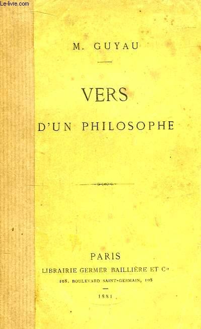 Vers d'un philosophe.