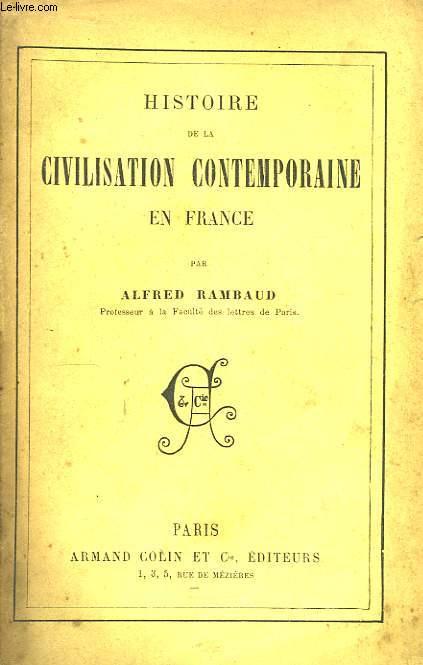 Histoire de la Civilisation en France.