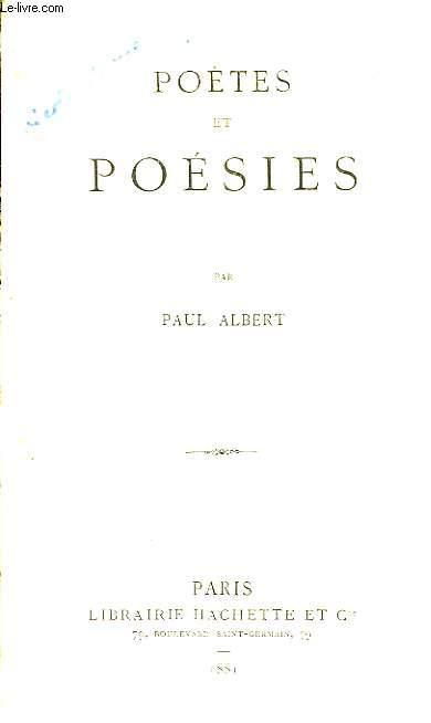 Poètes et Poésies.