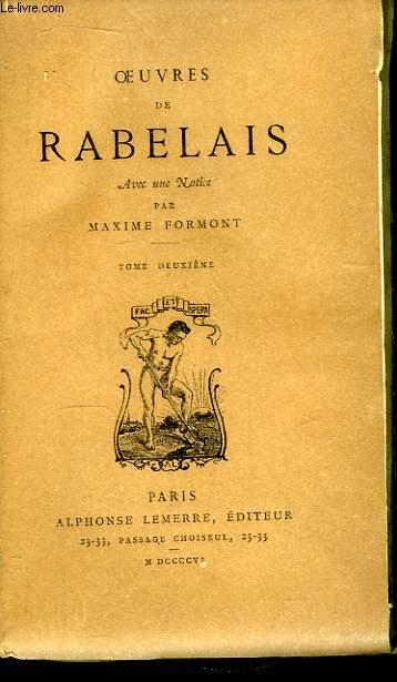 Oeuvres de Rabelais. TOME 2