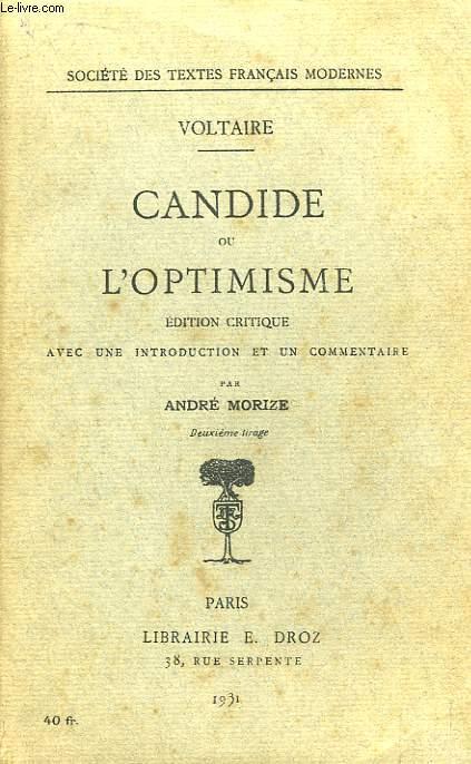 Candide ou L'Optimisme.
