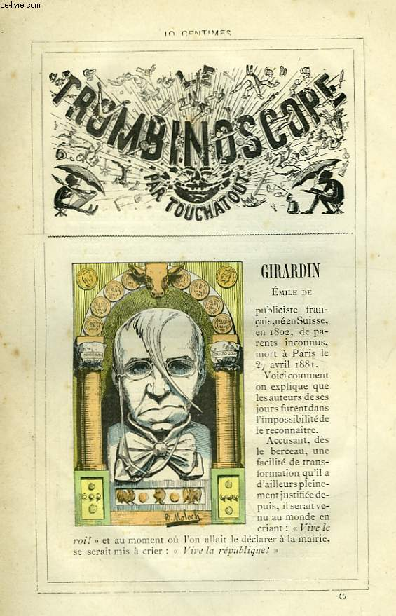 Le Trombinoscope N°45 : Emile de Girardin.