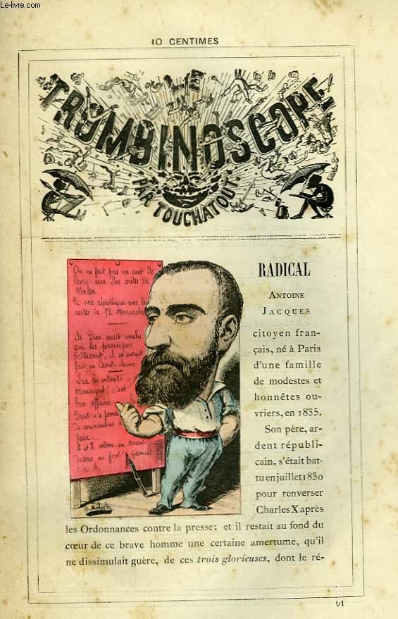 Le Trombinoscope N°61 : Antoine Jacques Radical.