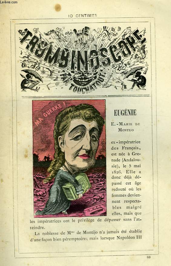Le Trombinoscope N°60 : E.-Marie de Montijo Eugénie.