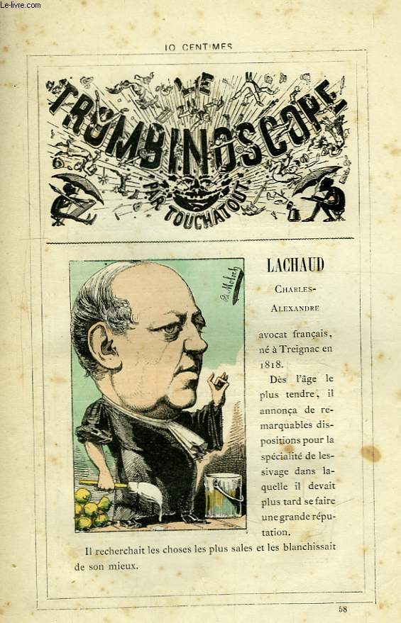 Le Trombinoscope N°58 : Charles-Alexandre Lachaud.