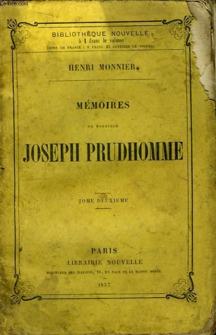 Mémoires de Monsieur Joseph Prudhomme. TOME 2