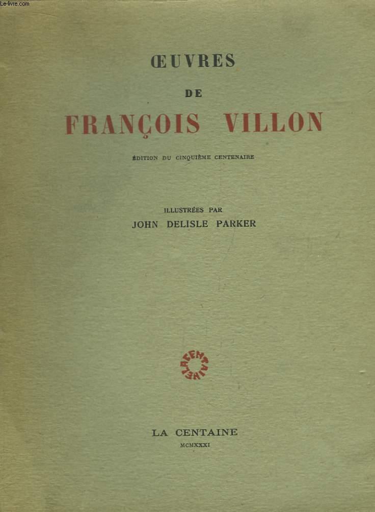 Oeuvres de François Villon