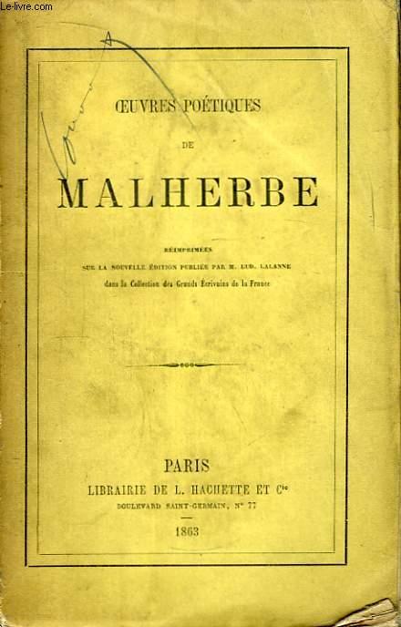 Oeuvres poétiques de Malherbe.