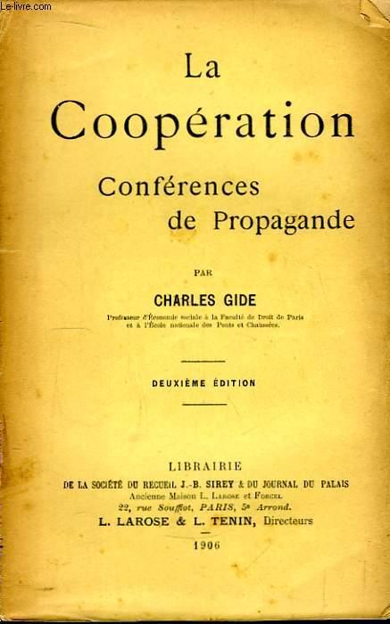 La Coopération. Conférences de Propagande.
