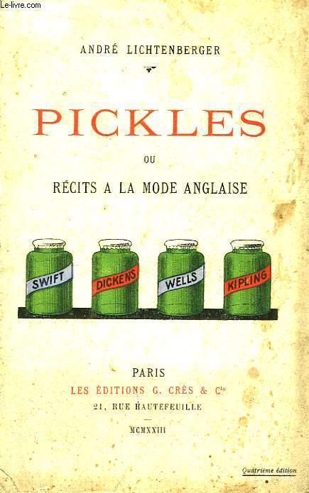 Pickles ou Récits à la Mode Anglaise.