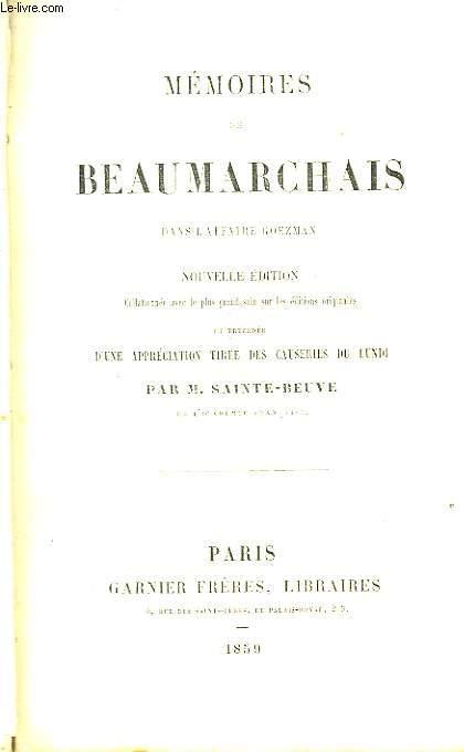 Mémoires de Beaumarchais, dans l'affaire Goezman.