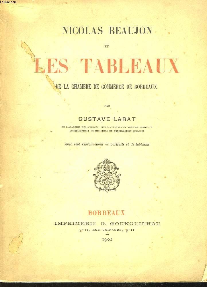 Nicolas Beaujon et les Tableaux de la Chambre de Commerce de Bordeaux.