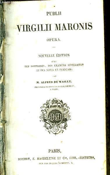 Publii Virgilii Maronis. Opera.