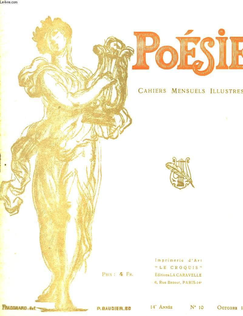 Poésie. Cahiers mensuels illustrés. N°10 - 14ème année