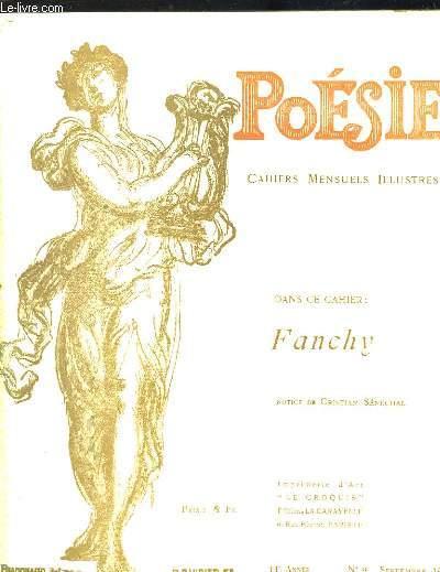 Poésie. Cahiers mensuels illustrés. N°9 - 14ème année : Fanchy.