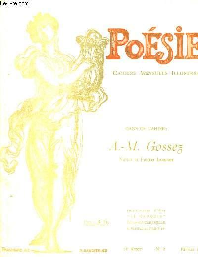 Poésie. Cahiers mensuels illustrés. N°2 - 14ème année : A.-M. Gossez.
