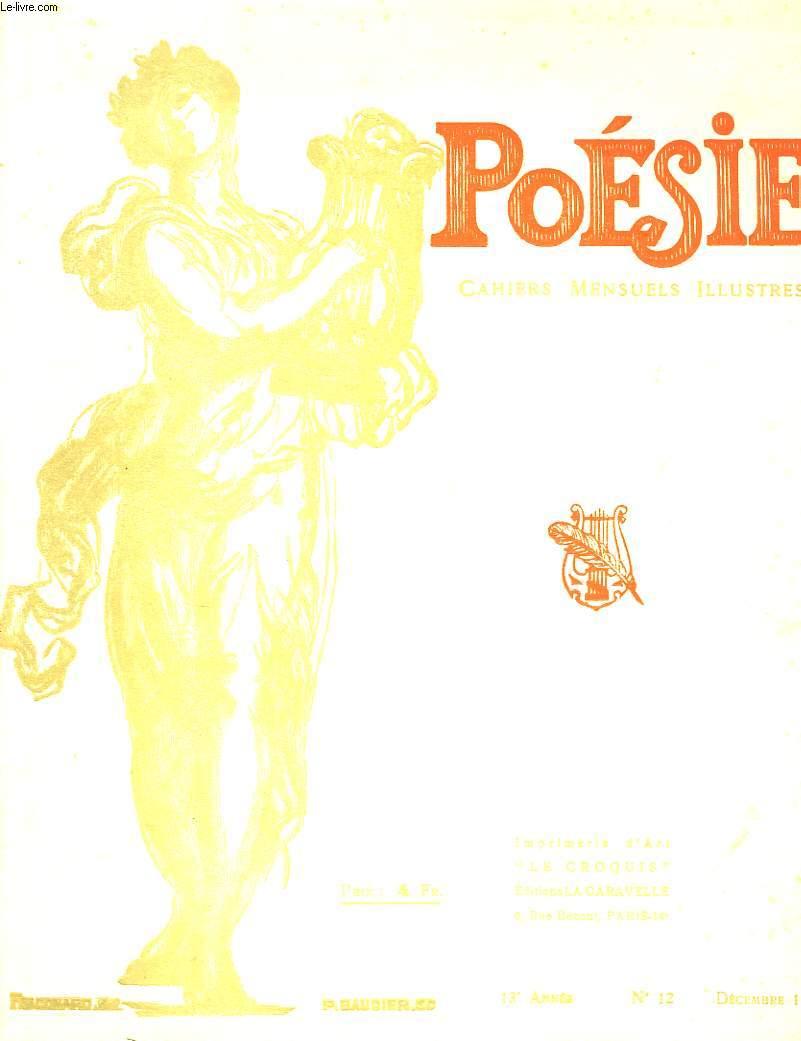 Poésie. Cahiers mensuels illustrés. N°12 - 13ème année