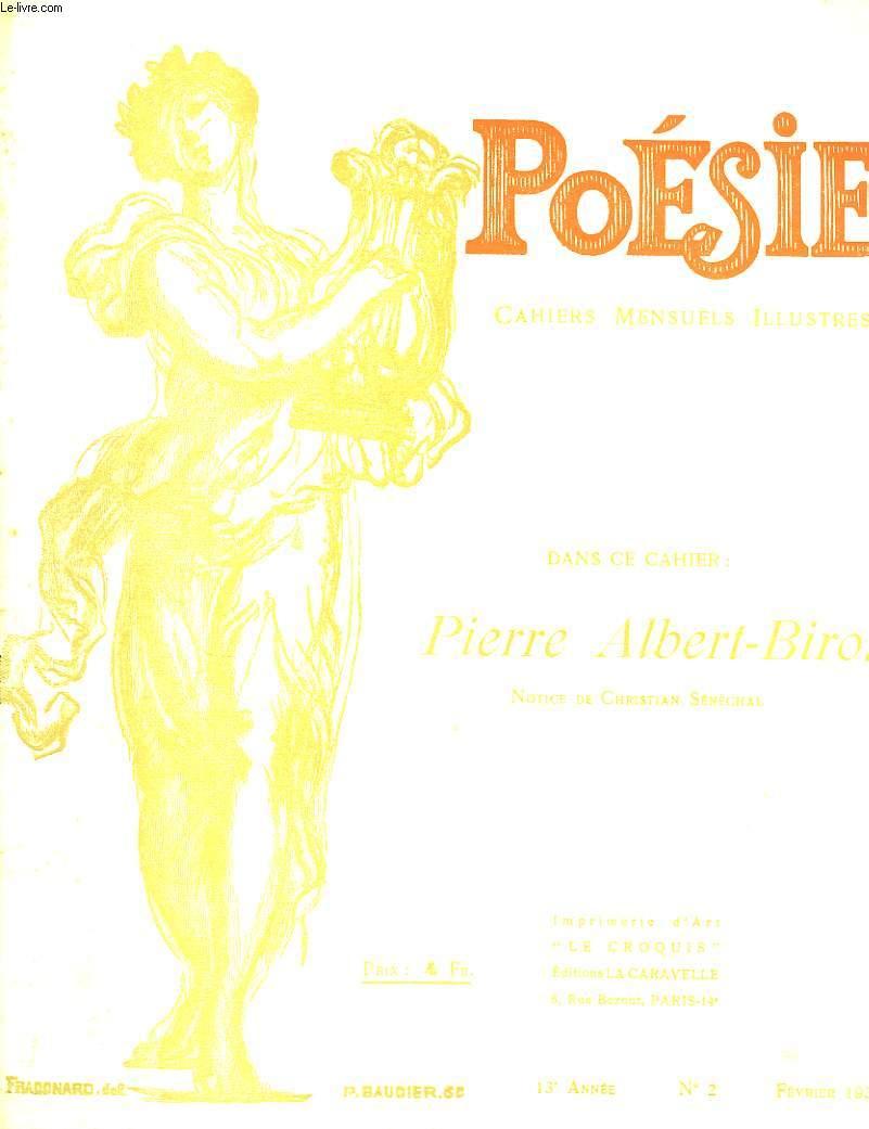 Poésie. Cahiers mensuels illustrés. N°2 -13ème année : Pierre-Albert-Birot