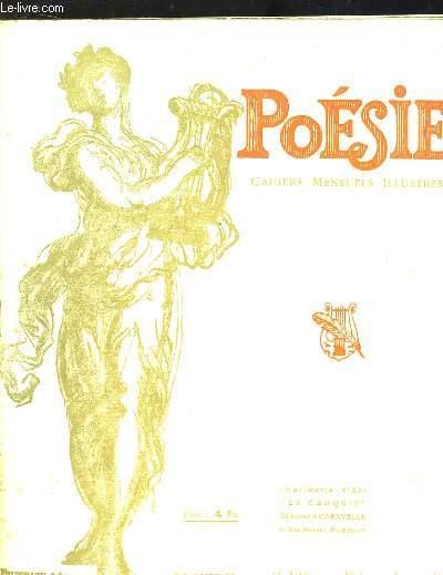 Poésie. Cahiers mensuels illustrés. N°1 - 13ème année