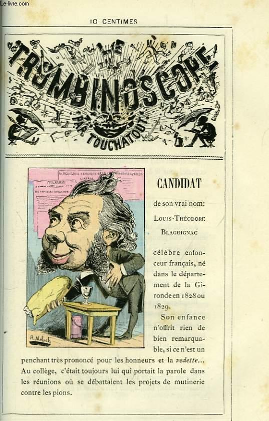 Le Trombinoscope N°90 : Candidat, de son vrai nom : Louis-Théodore Blaguignac.