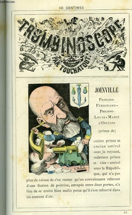 Le Trombinoscope N°83 : François-Ferdinand-Philippe-Louis-Marie d'Orléans, Prince de Joinville.