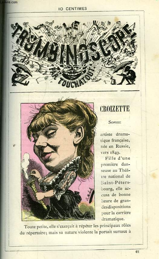 Le Trombinoscope N°62 : Sophie Croizette.