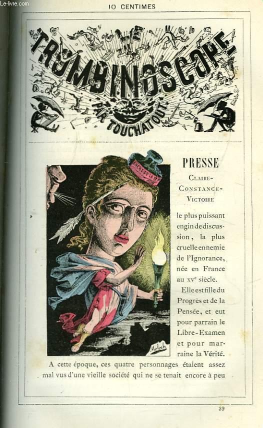 Le Trombinoscope N°39 : Claire-Constance-Victoire Presse