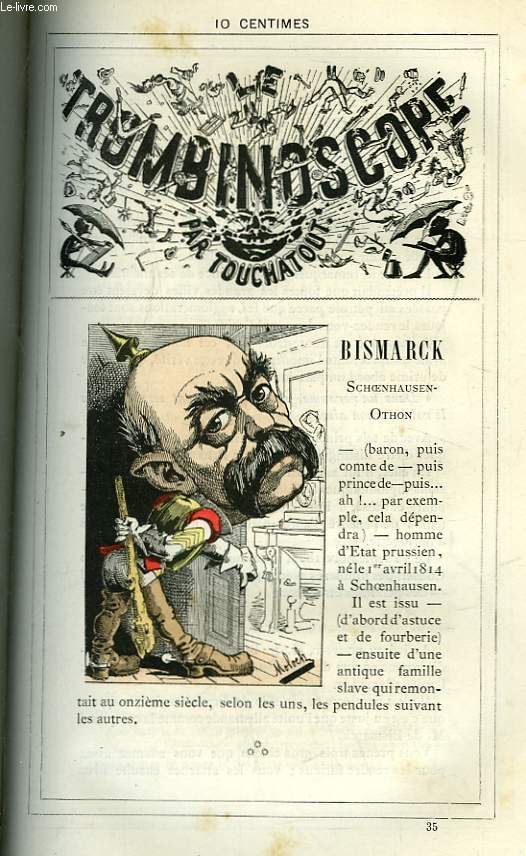 Le Trombinoscope N°35 : Schoenhausen-Othon Bismarck.