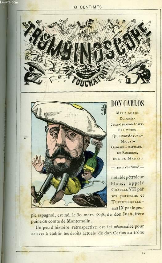 Le Trombinoscope N°16 : Don Carlos, Maria de los Dolorès-Juan-Isidoro-Josef-Francesco-Quirinio-Antonio-Miguel-Gabriel-Raphael-de-Bourbon, Duc de Madrid.