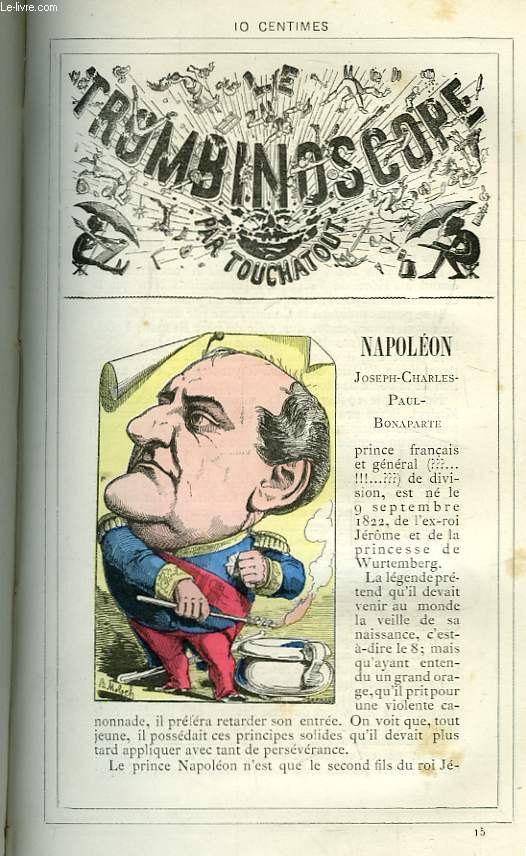 Le Trombinoscope N°15 : Joseph-Charles-Paul-Bonaparte Napoléon.