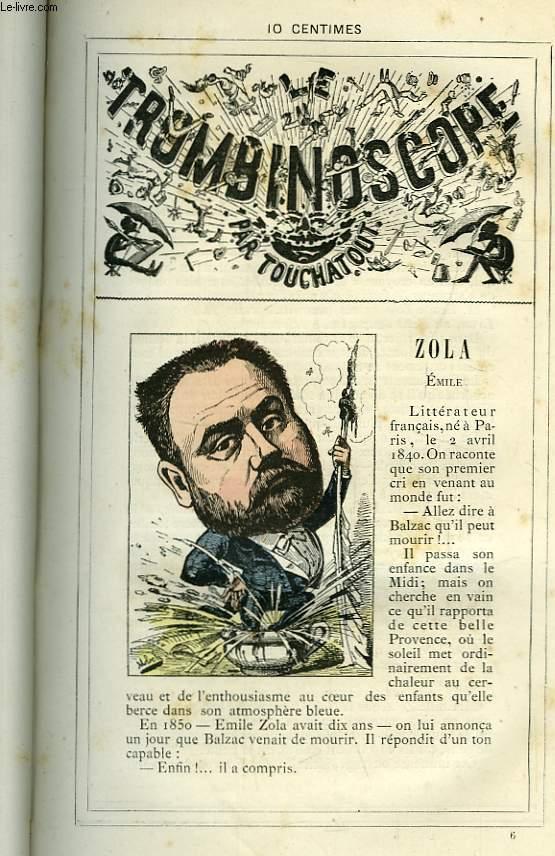 Le Trombinoscope N°6 : Emile Zola.