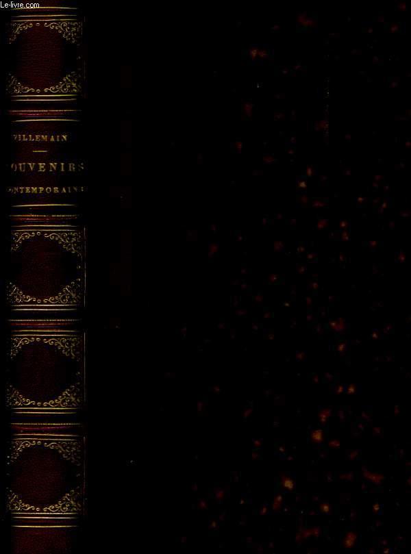 Souvenirs contemporains d'Histoire et de Littérature. 2nde partie.