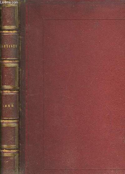 L'Artiste. TOME 3 : Janvier - Mai 1858