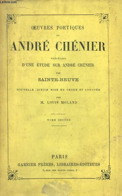 Oeuvres Poétiques de André Chénier. TOME 2nd