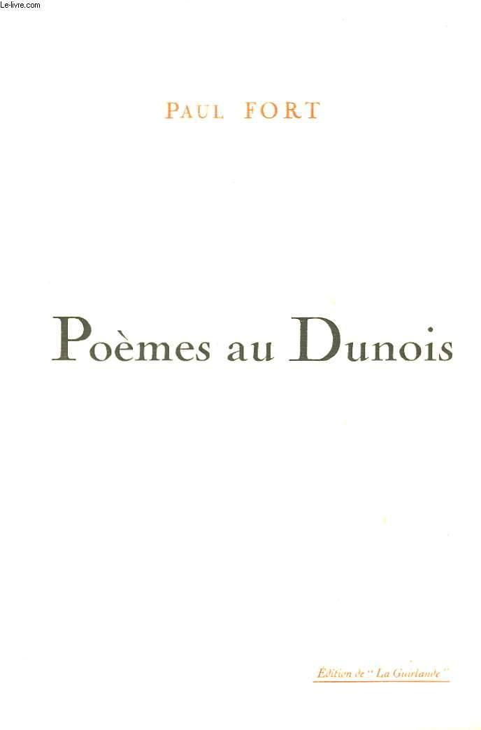 Poèmes au Dunois.